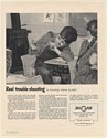 1951 Boy with Slingshot in Classroom Real Trouble-Shooting Hagan Engineers Ad