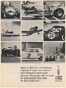1964 Champion Spark Plug 1963 Major Race Winners Car Boat Plane Print Ad