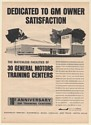 1964 General Motors Training Centers Dedicated to GM Owner Satisfaction Print Ad