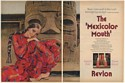 1969 Revlon Moon Drops Lipstick The Mexicolor Mouth 2-Page Print Ad