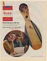 1966 Winston Cigarette Bowling Man Lady Smoking Flavor That Goes With Fun Ad