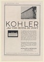 1920 Hotel Du Pont Wilmington DE Kohler Viceroy Built-in Bath Tub Print Ad