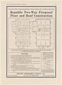 1920 Republic Two-Way Fireproof Floor Roof Construction Framing Plans Print Ad