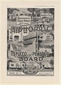 1920 Bishopric Stucco and Plaster Board Homes IA MD OK OH MA PA NJ Print Ad