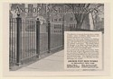 1920 Anchor Post Iron Works Railings Fence Print Ad