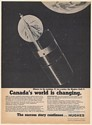 1983 Hughes Anik C Canada Communications Satellite Print Ad