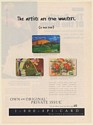 1996 Discover Private Issue Patrick Ewing Anthony Quinn Jane Seymour Print Ad