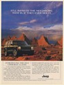 1996 Jeep Cherokee Classic It'll Impress the Neighbors Monument Valley Print Ad