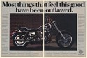 1992 Harley-Davidson Dyna Glide Custom Most Things Feel This Good Outlawed 2-Page Ad