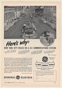 1955 New York City GE General Electric 2-Way Mobile Radio Print Ad