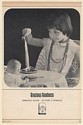 1963 Spreckels Sugar Gracious Goodness Girl Eating with Doll Print Ad