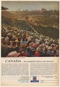 1963 Chuckwagon Races at Alberta World-Famous Calgary Stampede Canada Travel Ad