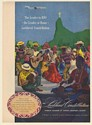 1947 Lockheed Constellation Aircraft Leader to Rio People Christ the Redeemer Ad