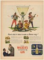 1947 Hiram Walker's Gin Here's What It Takes to Make a Martini Sing Print Ad