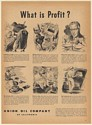 1947 Union Oil Company What is Profit? Don Easton Illustration Print Ad