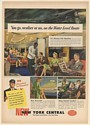 1947 New York Central Railroad Water Level Route Club Car Fair Weather Print Ad