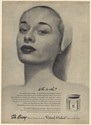 1947 Du Barry Cleansing Cream Who is She? Woman Face Young Skin Glows Print Ad