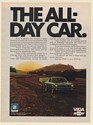 1971 Chevy Vega Pulling Camper Vacation The All-Day Car Print Ad