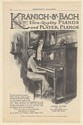 1915 Kranich & Bach Jubilee Upright Player Piano Lady Playing Print Ad
