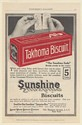 1915 Sunshine Takhoma Soda Biscuit Crackers Breaks Evenly in the Center Print Ad