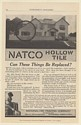 1915 Natco Hollow Tile for House Construction National Fire Proofing Co Print Ad