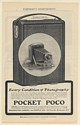1902 Pocket Poco Camera Rochester Camera and Supply Co Print Ad