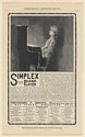 1902 Simplex Piano Player Will Enable You to Play the Piano Print Ad