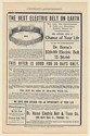 1902 Dr Horne Electric Belt No 4 New Improved Cure Diseases Print Ad