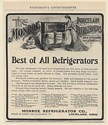 1902 Monroe Porcelain Refrigerator Best All Refrigerators Lockland OH Print Ad