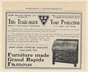 1902 Grand Rapids Furniture Association Trademark Your Protection Print Ad
