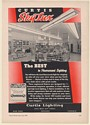 1941 Curtis SkyLux Fluorescent Store Lighting Trade Print Ad