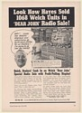 1941 Welch's Grape Juice Dear John Radio Sale Hayes State Market MA Trade Ad