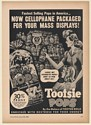 1941 Tootsie Pops Now Cellophane Packaged for Mass Displays Trade Print Ad