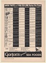 1941 Gorton's Sea Foods Quick Facts on 9 Big Selling Foods Trade Print Ad