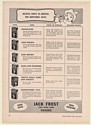 1941 Jack Frost Pure Cane Sugars 6 Types Helpful Hints to Grocers Trade Print Ad