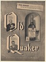 1950 Old Quaker Straight Whiskey You Don't Have to Be Rich to Enjoy Print Ad