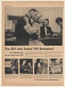 1950 Beverly Reinstedt Major Bob Neiman Bachelor Club Woodbury Soap Print Ad