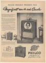 1950 Philco Model 1633 TV 16 Inch Console Television Print Ad