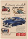 1950 Mercury Powerhouse on Wheels and So Easy to Handle Print Ad