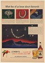 1950 Corby's Whiskey What Few of Us Know About Diamonds Print Ad