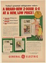 1950 GE General Electric 2-Door Refrigerator Model NJ-8G Print Ad