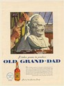 1950 Old Grand-Dad Bourbon Sculpting Bust It Takes Genius to Produce Print Ad