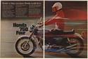 1969 Honda 750 Four Motorcycle Sooner or Later You Knew 2-Page Print Ad