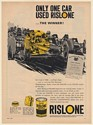 1969 Bobby Unser Indy in '68 Pike's Peak National Championship Rislone Print Ad