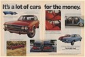 1972 Audi It's a Lot of Cars for the Money Porsche Lincoln VW Double-Page Ad