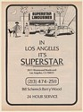 1979 Superstar Limousine Service Los Angeles Trade Print Ad
