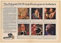 1981 Polaroid SX-70 AutoFocus Camera Goes to Sotheby's Double-Page Print Ad