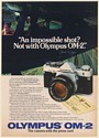 1982 Olympus OM-2 Camera Impossible Shot Jim Sugar Plane Wing Photo Print Ad