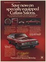 1978 Oldsmobile Cutlass Salon Specially Equipped Extras Print Ad