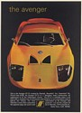 1969 Avenger GT-12 by Fiberfab Fiberglass Body to Fit VW Chassis Print Ad